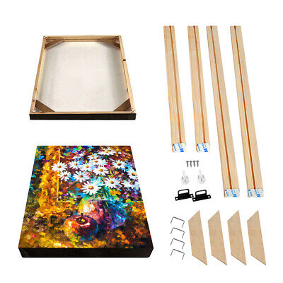 DIY Canvas Stretcher Bars Frames Wooden Strips Kits for Oil Painting Art Gallery