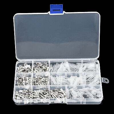 270pcs Spade Crimp Terminal Connectors Insulated Electrical Wire Cord Pin End