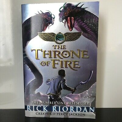 The Kane Chronicles The Throne Of Fire Book By Rick Riordan Paperback RRP: £7.99