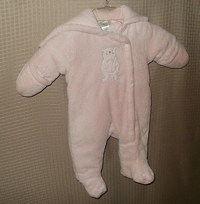 Absorba Baby Girls Infant Pink Snowsuit Size 0 - 3 Months PreOwned FREE SHIPPING