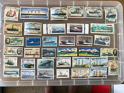 Thematic Stamps Boats-unchecked collection