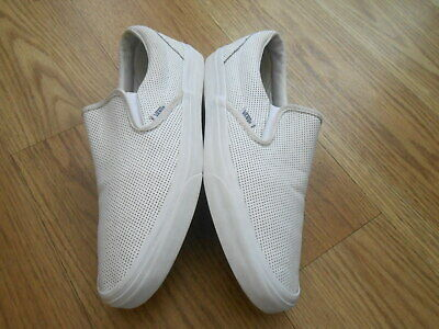 Vans Off The Wall White Leather  Deck  Shoes  Size Uk 9