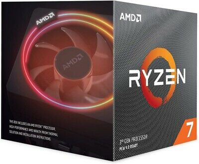 New AMD Ryzen 7 3700X - 3.6 GHz Octa-Core Processor with RGB Wraith Prism Cooler