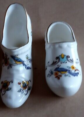 2 Bone Chine Floral items of footwear. A ladies shoe and a clog. Made by Newhall