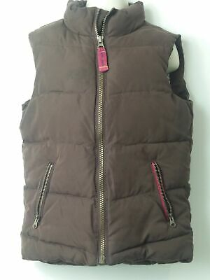 Boys Little Joules Brown Padded Quilted Body Warmer Coat Jacket Kids Age 6 Years
