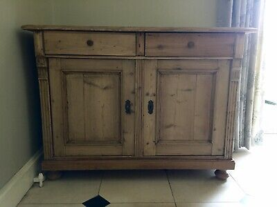 Beautiful Old Antique Pine Sideboard