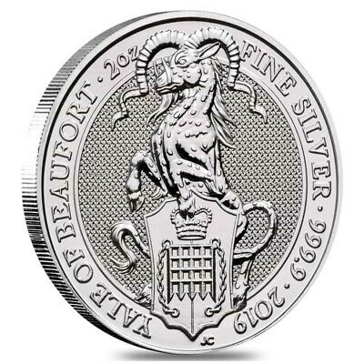 2019 Great Britain 2 oz 9999. Silver Bullion