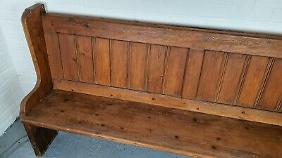 Solid Pitch Pine Church Pew / Bench FREE LOCAL DELIVERY