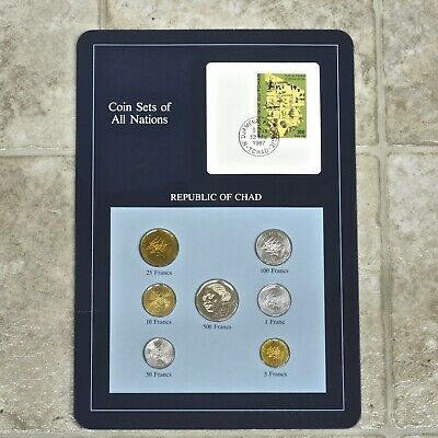 Franklin Mint Coin Sets Of All Nations, Republic Of Chad Set