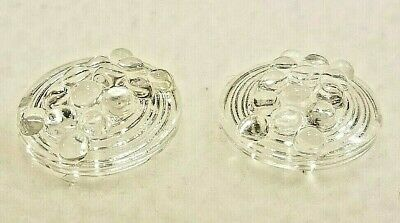2 Large Vintage Clear GLASS Shank Buttons, 1""