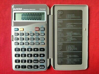Aurora - Fn1000 - Financial Manager - Calculator - Working - Rare