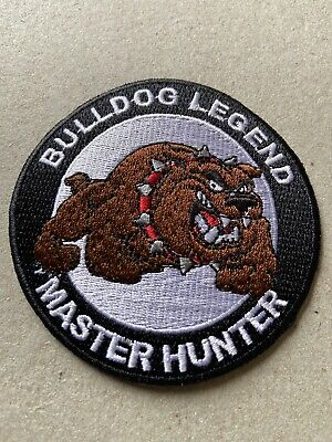 🇨🇦 Bulldog Legend Master Hunter  Patch  Sew On/stick On /new 🇨🇦