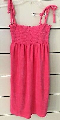 ☀️JUICY COUTURE Girls Sun Terry Dress Neiman Marcus Pink Size 10 New