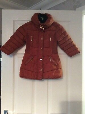 Girls Next Puffa Winter Coat Fur Collar Partly Fur  Lined Age 3