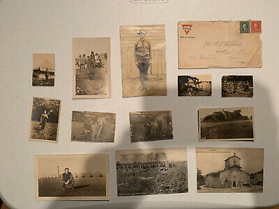 Vintage Ww1 Photo Lot ,post Cards & A Envelope.