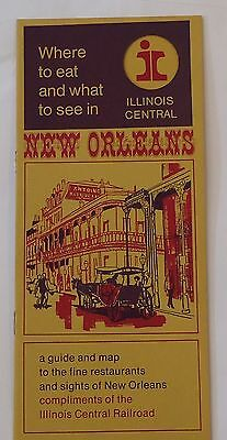 Illinois Central Railroad 1960's Travel Brochure - New Orleans