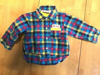 Apple Computer 12 Month Flannel Shirt - From 1980s