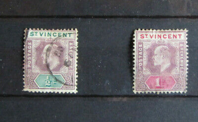 2 Briefmarken St.Vincent