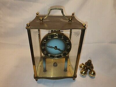 Antique Kieninger & Obergfell Clock Unusual Black Face Needs Restoration (EARLY)