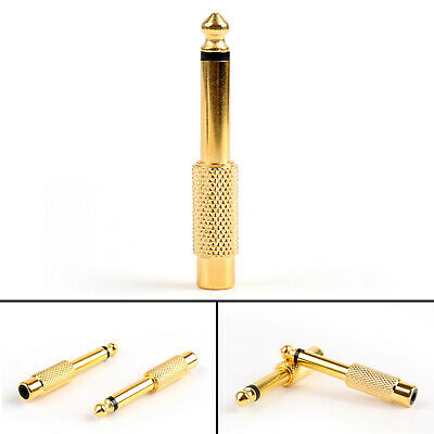 "RCA Female to 6.35mm 1/4"" Mono Male Audio Adapter Gold Plated Jack Connector"