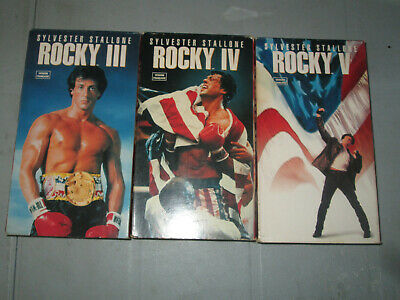 Rocky 1-2-3-4-5 (VHS)(French)  Tested Stallone