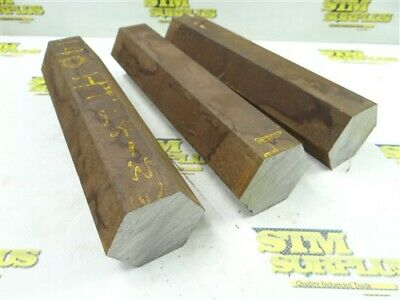 """35Lb Lot Of 2-3/16"""" Hex Stock 4140 Ht Solid Steel 10"""" Lengths"""