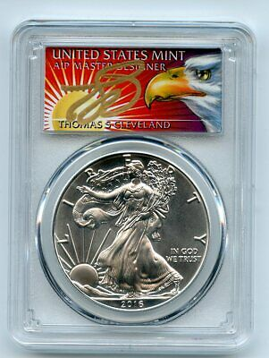 2016 (P) $1 American Silver Eagle 1oz PCGS MS70 Thomas Cleveland Eagle