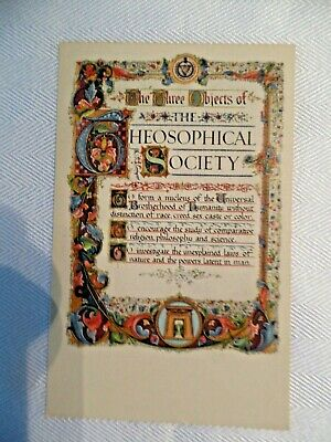 POSTCARDS VINTAGE unused free shipping Theosophical Society