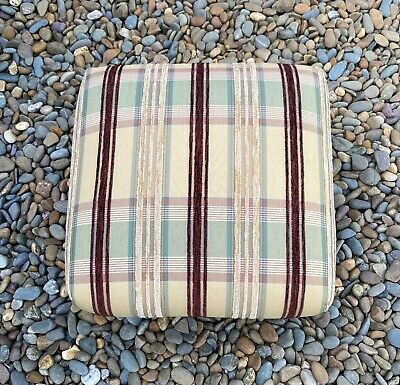 Lovely Antique Footstool Newly Re-Upholstered