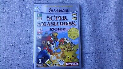 Leerhülle + Anleitung Super Smash Bros Melee Game Cube GC OVP Sehr guter Zustand