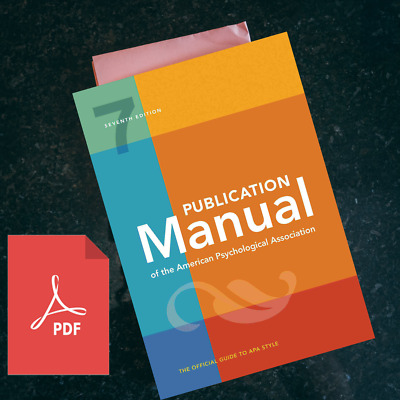 Publication Manual Of The American Psychological 7th 2020 (Full version)