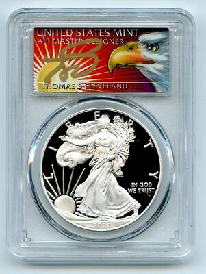 2020 W $1 Proof Silver Eagle PCGS PR70DCAM First Strike Cleveland Eagle