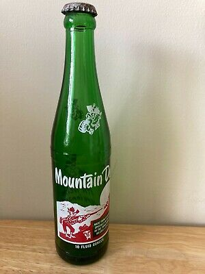 OLD 1950's MOUNTAIN DEW SODA BOTTLE W/ WILLY THE HILLBILLY - PEPSI