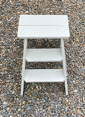 Lovely Set of Vintage Folding Step ladders  Hand painted & Distressed