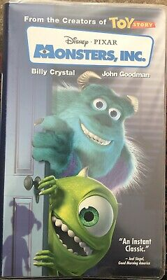 Monsters, Inc. VHS Tape 2002 Clear Clamshell Case