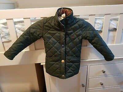 Girls Baby Mabel Pink Joules Quilted Padded Jacket / Coat Age 3 Years.
