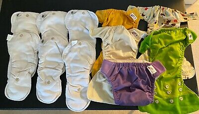 Growia cloth diaper shells and Snap in Soaker Pad Lot