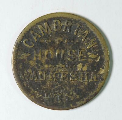 Cambrian House Waukesha Wisconsin Ed Evrard Good For 5 Five Cents in Trade Token