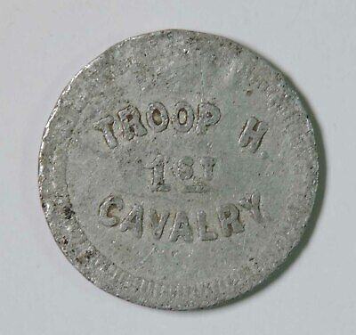 US Military Troop H 1st Cavalry Good For 10 Ten Cents in Trade Token