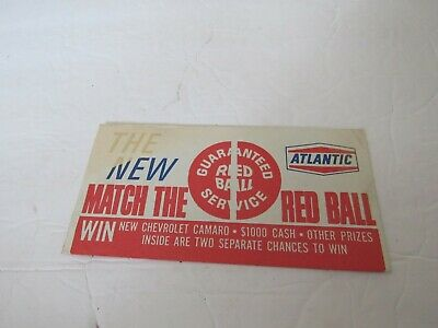 Atlantic Gas Match The Red Ball Guaranteed Service Game Two Chances 1967