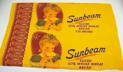 Sunbeam Bread waxed paper wrapper with Miss Sunbeam little girl picture Canada