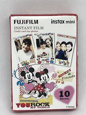 Fujifilm Instax Mini Instant Mickey and Friends Film 10 Sheets EXP. 5/2021 *NEW*