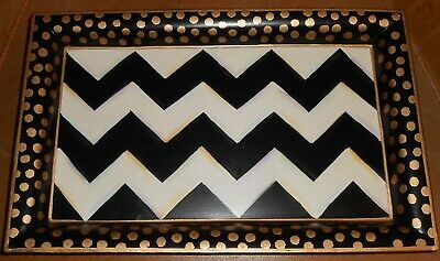 Mackenzie Childs Retired Small  Zig Zag Tray