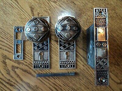 Antique Heavy Brass Door Knob Set
