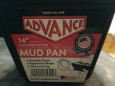 """NEW Advance 14"""" Mud Pan with Contoured Bottom - Durable Plastic & Textured Grip"""