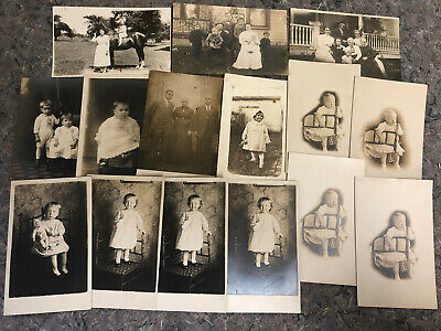 Lot Of 15 Real Photo Postcards - Horse - Baby - Posing Toddler - Lot B