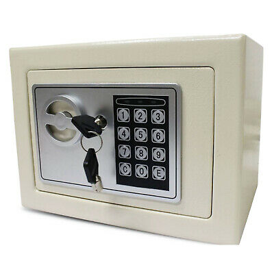 Universal Security Steel Electronic Wall Mount Safe with Key and Keypad Lock