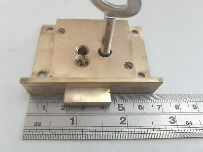 Brass Cupboard-Cabinet lock 1 key 68mm - (1380) 4 Lever