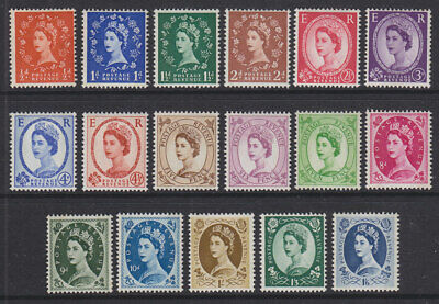 1960/67 WILDINGS DEFINITIVE PHOSPHOR SET OF 17 SG610/618a  UNMOUNTED MINT
