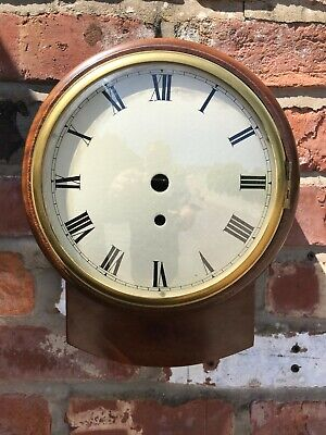 Wooden Wall Clock Case With 8 Inch Convex Dial & Cast Brass Bezel